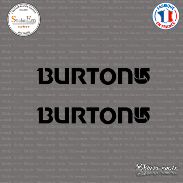 2 Stickers Burton Logo