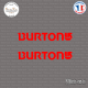 2 Stickers Burton Logo Sticks-em.fr Couleurs au choix
