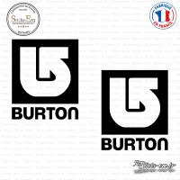 2 Stickers Burton Snowboards Logo Sticks-em.fr Couleurs au choix