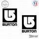 2 Stickers Burton Snowboards Logo Sticks-em.fr Couleurs au choix