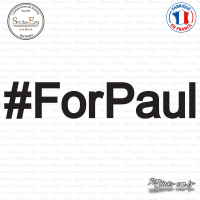 Sticker For Paul twitter hashtag Sticks-em.fr Couleurs au choix