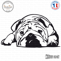 Sticker Bouledogue Anglais sticks-em.fr
