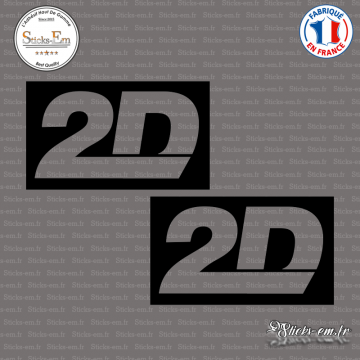 2 Stickers 2D Racing