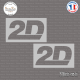 2 Stickers 2D Racing Sticks-em.fr Couleurs au choix
