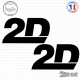2 Stickers 2D Racing 2 Sticks-em.fr Couleurs au choix