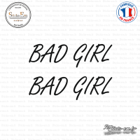 2 Stickers JDM Bad Girl Sticks-em.fr Couleurs au choix
