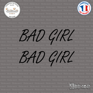 2 Stickers JDM Bad Girl