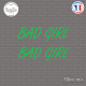 2 Stickers JDM Bad Girl Sticks-em.fr Couleurs au choix