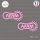 2 Stickers Afam Sticks-em.fr Couleurs au choix