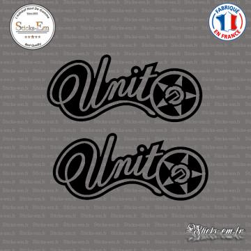 2 Stickers Unit Logo