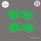2 Stickers Unit Logo Sticks-em.fr Couleurs au choix