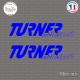 2 Stickers Turner Motorsport Sticks-em.fr Couleurs au choix