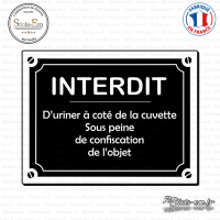 Sticker Interdit d'uriner Sticks-em.fr Couleurs au choix