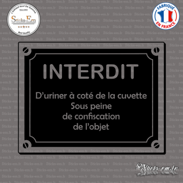 Sticker Interdit d'uriner