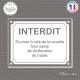 Sticker Interdit d'uriner Sticks-em.fr Couleurs au choix