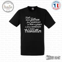 T-shirt Mon Patron Sticks-em.fr Couleurs au choix