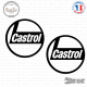 2 Stickers Castrol