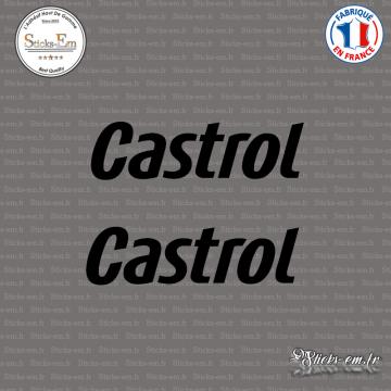 2 Stickers Castrol Logo