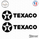 2 Stickers Texaco Logo