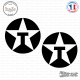 2 Stickers Texaco Oil