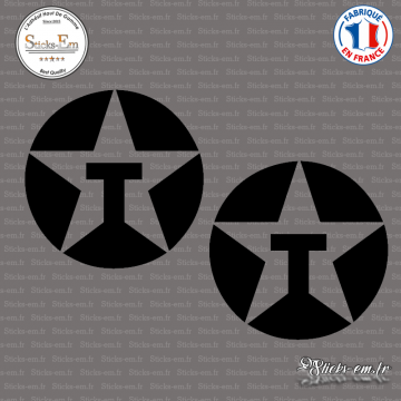2 Stickers Texaco Oil