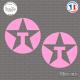 2 Stickers Texaco Oil Sticks-em.fr Couleurs au choix