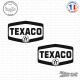 2 Stickers Texaco