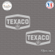 2 Stickers Texaco Sticks-em.fr Couleurs au choix