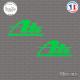 2 Stickers Ate Sticks-em.fr Couleurs au choix