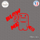 Sticker JDM Blow Me Turbo Sticks-em.fr Couleurs au choix