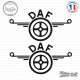 2 Stickers DAF Logo