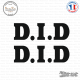 2 Stickers D.I.D. Logo