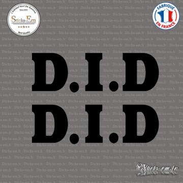 2 Stickers D.I.D. Logo