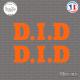 2 Stickers D.I.D. Logo Sticks-em.fr Couleurs au choix