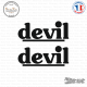 2 Stickers Devil Logo