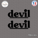 2 Stickers Devil Logo Sticks-em.fr Couleurs au choix