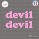 2 Stickers Devil Sticks-em.fr Couleurs au choix