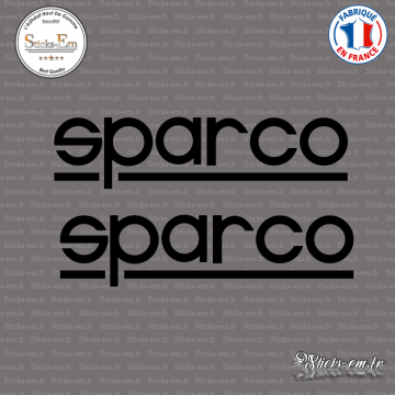 2 Stickers Sparco