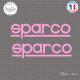 2 Stickers Sparco Sticks-em.fr Couleurs au choix