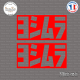 2 Stickers Yoshimura Logo V2 Sticks-em.fr Couleurs au choix