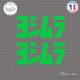 2 Stickers Yoshimura V2 Sticks-em.fr Couleurs au choix