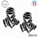 2 Stickers Touareg Dakar