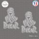 2 Stickers Dakar Touareg logo Sticks-em.fr Couleurs au choix