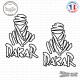 2 Stickers Dakar Touareg Contour logo
