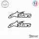 2 Stickers Alpinestars stars