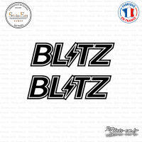 2 Stickers Blitz Logo Sticks-em.fr Couleurs au choix