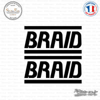 2 Stickers Braid Sticks-em.fr Couleurs au choix