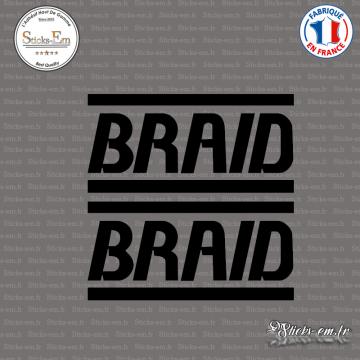 2 Stickers Braid