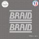 2 Stickers Braid Sticks-em.fr Couleurs au choix