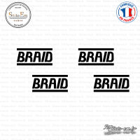 4 Stickers Braid Logo Sticks-em.fr Couleurs au choix